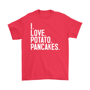 I Love Potato Pancakes - Gildan Mens T-Shirt / Red / S - Polish Shirt Store