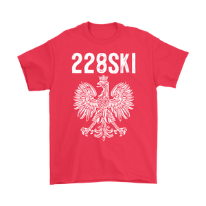 Mississippi Polish Pride - 228 Area Code - Gildan Mens T-Shirt / Red / S - Polish Shirt Store