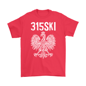 Syracuse NY - 315 Area Code - Polish Pride - Gildan Mens T-Shirt / Red / S - Polish Shirt Store