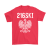 Cleveland Ohio - 216 Area Code - 216SKI - Gildan Mens T-Shirt / Red / S - Polish Shirt Store