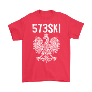 573SKI Missouri Polish Pride - Gildan Mens T-Shirt / Red / S - Polish Shirt Store