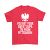 Pittsburgh Polish Shirt - Gildan Mens T-Shirt / Red / S - Polish Shirt Store