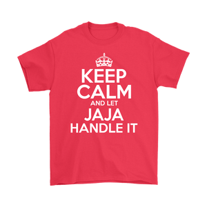 Keep Calm And Let JaJa Handle It - Gildan Mens T-Shirt / Red / S - Polish Shirt Store