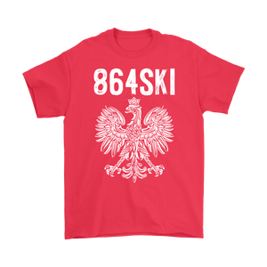 864SKI South Carolina Polish Pride - Gildan Mens T-Shirt / Red / S - Polish Shirt Store