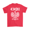 434SKI Virginia Polish Pride - Gildan Mens T-Shirt / Red / S - Polish Shirt Store
