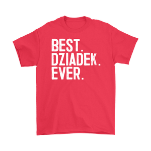 Best Dziadek Ever, Dziadek Gift - Gildan Mens T-Shirt / Red / S - Polish Shirt Store