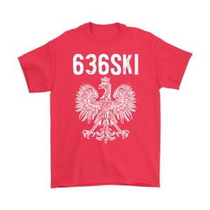 636SKI Missouri Polish Pride - Gildan Mens T-Shirt / Red / S - Polish Shirt Store