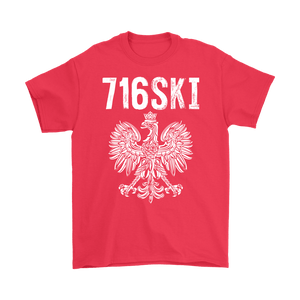 Buffalo NY - 716 Area Code - 716SKI - Gildan Mens T-Shirt / Red / S - Polish Shirt Store