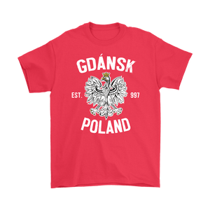 Gdansk Poland - Gildan Mens T-Shirt / Red / S - Polish Shirt Store