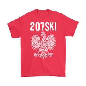 Maine - 207 Area Code - 207SKI - Gildan Mens T-Shirt / Red / S - Polish Shirt Store