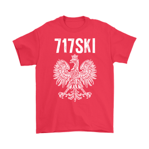 717SKI Pennsylvania Polish Pride - Gildan Mens T-Shirt / Red / S - Polish Shirt Store