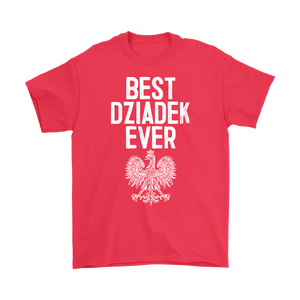 Best Dziadek Ever Polish Eagle Gift - Gildan Mens T-Shirt / Red / S - Polish Shirt Store