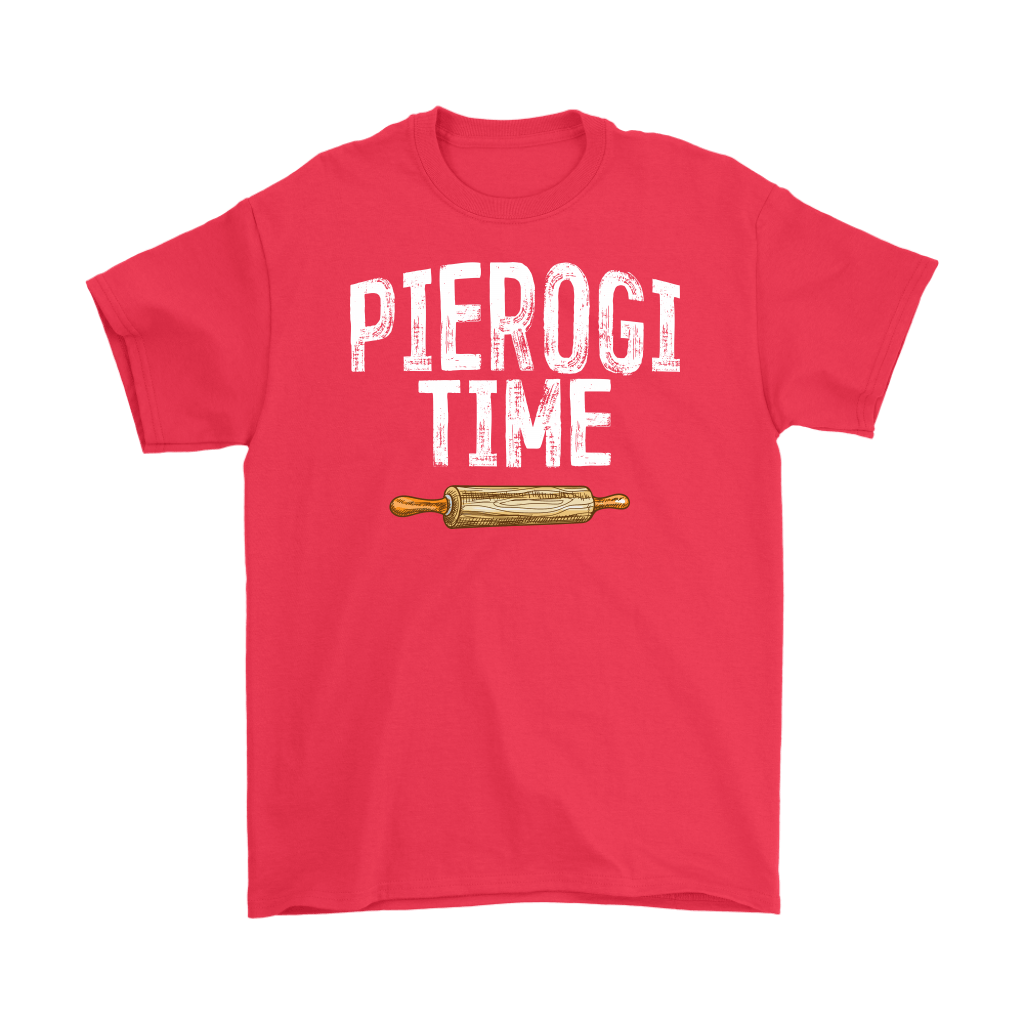 Pierogi Time T-Shirt - Gildan Mens T-Shirt / Red / S - Polish Shirt Store