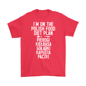 I'm On The Polish Food Diet Plan - Gildan Mens T-Shirt / Red / S - Polish Shirt Store
