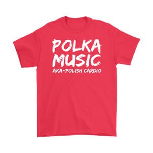 Polka Music Polish Cardio Mens - Gildan Mens T-Shirt / Red / S - Polish Shirt Store