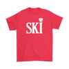Polish Surnames Ski - Gildan Mens T-Shirt / Red / S - Polish Shirt Store