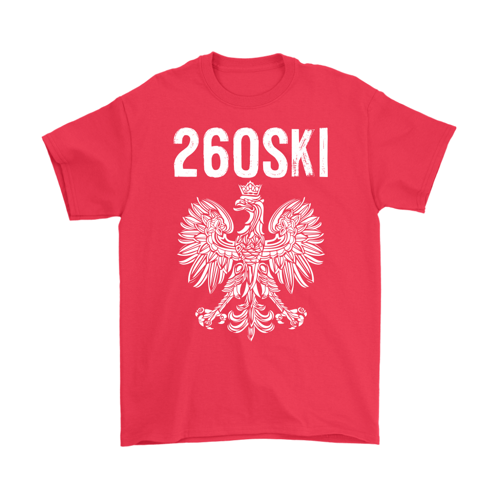 Indiana Polish Pride - 260 Area Code - Gildan Mens T-Shirt / Red / S - Polish Shirt Store