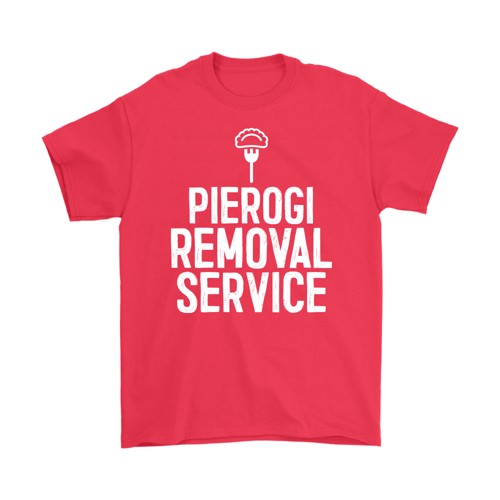 Pierogi Removal Service - Gildan Mens T-Shirt / Red / S - Polish Shirt Store