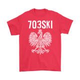 703SKI Virginia Polish Pride - Gildan Mens T-Shirt / Red / S - Polish Shirt Store