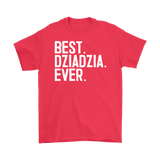 Best Dziadzia Ever, Dziadzia Gift - Gildan Mens T-Shirt / Red / S - Polish Shirt Store