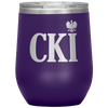 Polish Surname Ending in CKI Wine Tumbler - Purple - Polish Shirt Store