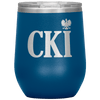 Polish Surname Ending in CKI Wine Tumbler - Blue - Polish Shirt Store