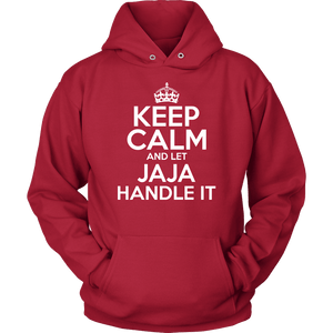 Keep Calm And Let JaJa Handle It - Unisex Hoodie / Red / S - Polish Shirt Store