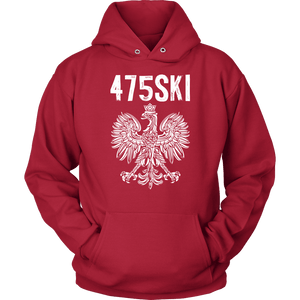 Bridgeport Connecticut - 475 Area Code - Polish Pride - Unisex Hoodie / Red / S - Polish Shirt Store