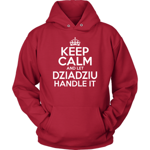 Keep Calm And Let Dziadziu Handle It - Unisex Hoodie / Red / S - Polish Shirt Store