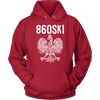 Hartford Connecticut - 860 Area Code - Polish Pride - Unisex Hoodie / Red / S - Polish Shirt Store