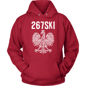 Pennsylvania Polish Pride - 267 Area Code - Unisex Hoodie / Red / S - Polish Shirt Store