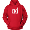 Polish Surname Ending With CKI - Unisex Hoodie / Red / S - Polish Shirt Store