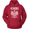 434SKI Virginia Polish Pride - Unisex Hoodie / Red / S - Polish Shirt Store