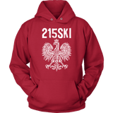 215SKI Pennsylvania Polish Pride - Unisex Hoodie / Red / S - Polish Shirt Store