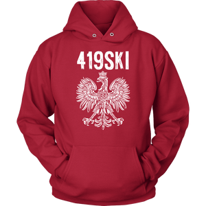 Toledo Ohio - 419 Area Code - Polish Pride - Unisex Hoodie / Red / S - Polish Shirt Store