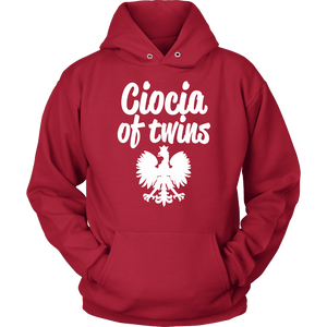Ciocia of Twins Gift - Unisex Hoodie / Red / S - Polish Shirt Store