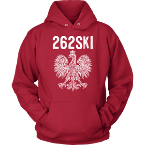 Wisconsin Polish Pride - 262 Area Code - Unisex Hoodie / Red / S - Polish Shirt Store