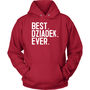 Best Dziadek Ever, Dziadek Gift - Unisex Hoodie / Red / S - Polish Shirt Store