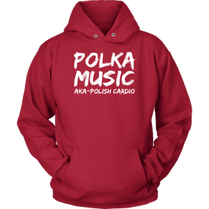 Polka Music Polish Cardio Mens - Unisex Hoodie / Red / S - Polish Shirt Store