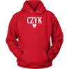 Polish Surnames ending in CZYK - Unisex Hoodie / Red / S - Polish Shirt Store