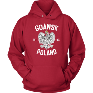 Gdansk Poland - Unisex Hoodie / Red / S - Polish Shirt Store