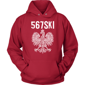 Toledo Ohio - 567 Area Code - Polish Pride - Unisex Hoodie / Red / S - Polish Shirt Store
