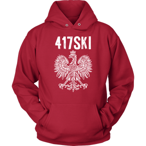 417SKI Missouri Polish Pride - Unisex Hoodie / Red / S - Polish Shirt Store