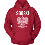 908SKI Pennsylvania Polish Pride - Unisex Hoodie / Red / S - Polish Shirt Store