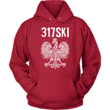 317SKI Indiana Polish Pride - Unisex Hoodie / Red / S - Polish Shirt Store