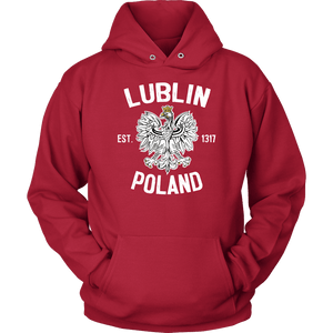 Lublin Poland - Unisex Hoodie / Red / S - Polish Shirt Store