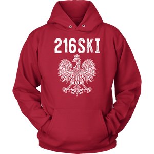 Cleveland Ohio - 216 Area Code - 216SKI - Unisex Hoodie / Red / S - Polish Shirt Store