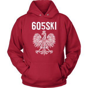 605SKI South Dakota Polish Pride - Unisex Hoodie / Red / S - Polish Shirt Store