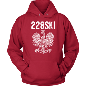 Mississippi Polish Pride - 228 Area Code - Unisex Hoodie / Red / S - Polish Shirt Store