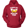 Dyngus Day Drinking Team - Unisex Hoodie / Red / S - Polish Shirt Store